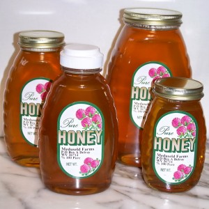 Meduseld honey - available in glass jars and squeeze bottles