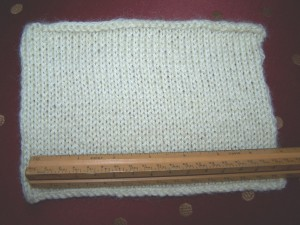 Worsted Romney Knit Swatch