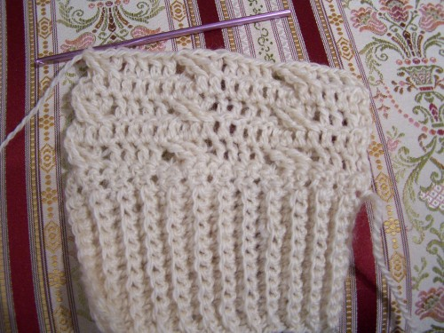 aran crochet ribbing and cable