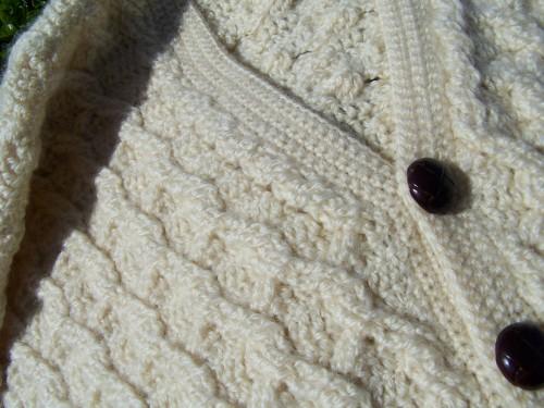 aran sweater closeup