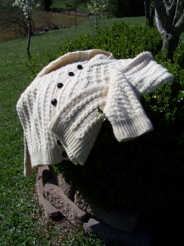 Aran Crocheted Sweater