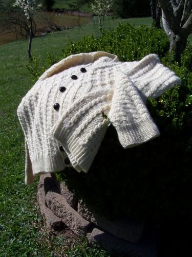 Aran Crocheted Sweater