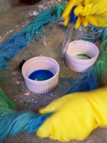 painting yarn