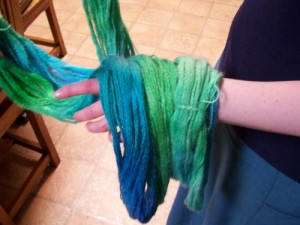 wet yarn