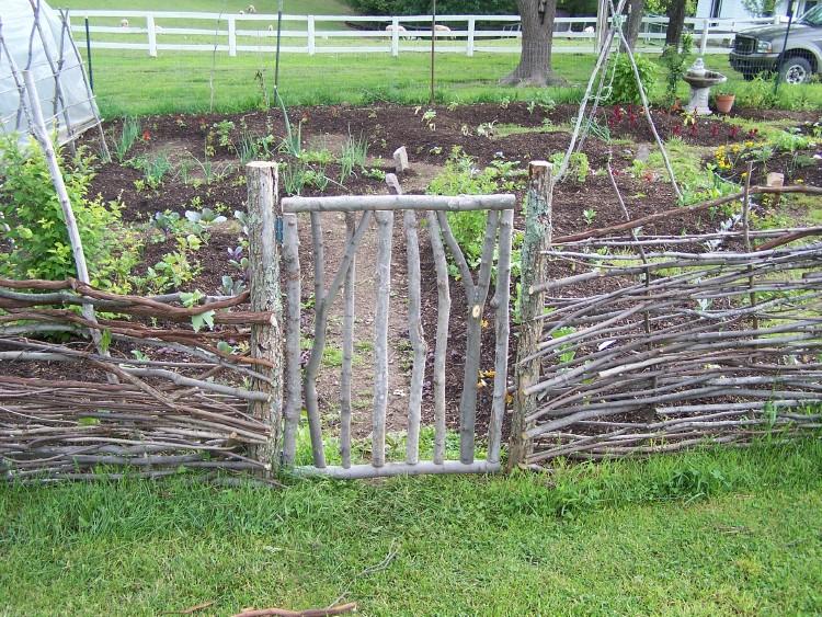 garden gate in wattle fence