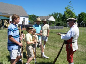 Docent Providing Instruction on Bayonets