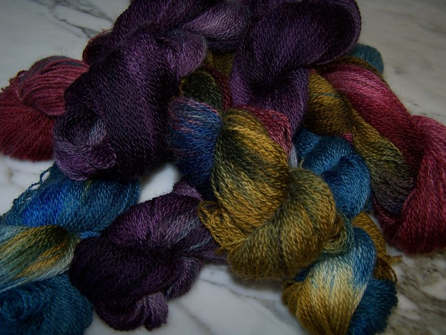 Vibrant ROmney Fingerling/Lace yarn
