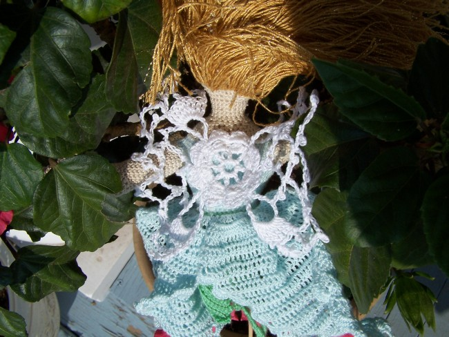 Irish crochet fairy wings