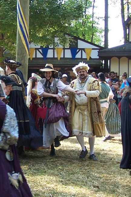 Henry VIII Performing a Morris Dance