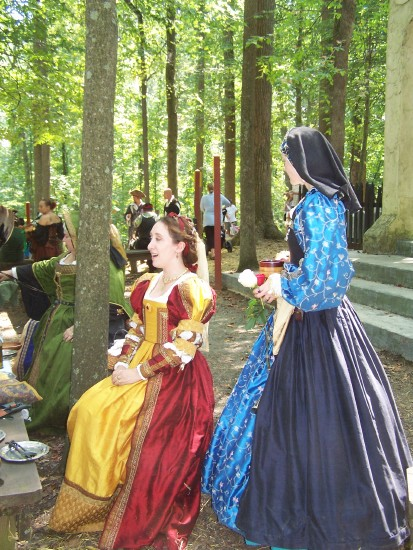 Ladies in period costume
