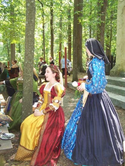 Ladies in period costume