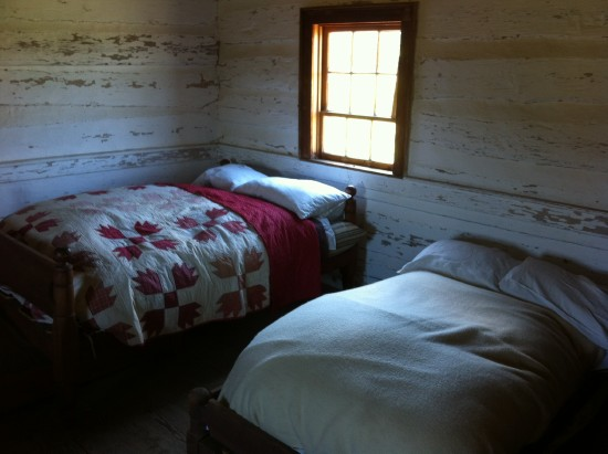 Ticking and Down Beds in Virginia Homestead