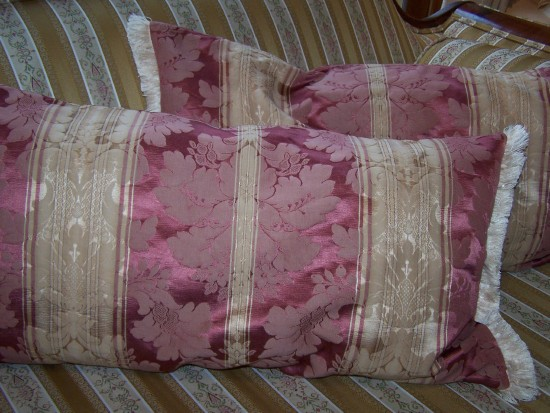 "Silk Damask Duo - ""My Lady's Boudoir"""