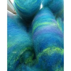 Wool Roving - Romney - Dyed batts - Beau
