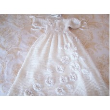 Baby Baptismal Gown - Hand-Crocheted SOLD